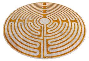 Intarsio labirinto pavimento